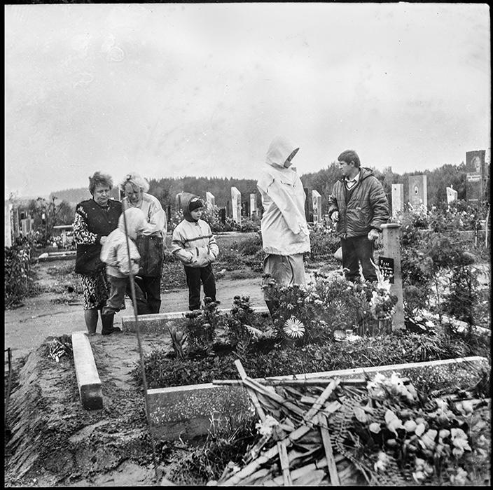 На кладбище, Минск, конец 80-х