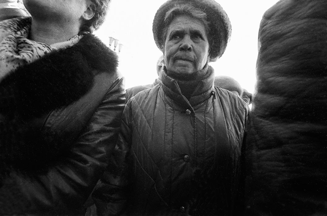 Портрет женщины на улице. Минск, середина 80-х