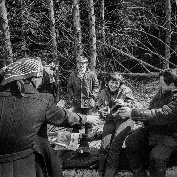 Пикник на субботнике. Минский р-н. 1982 год