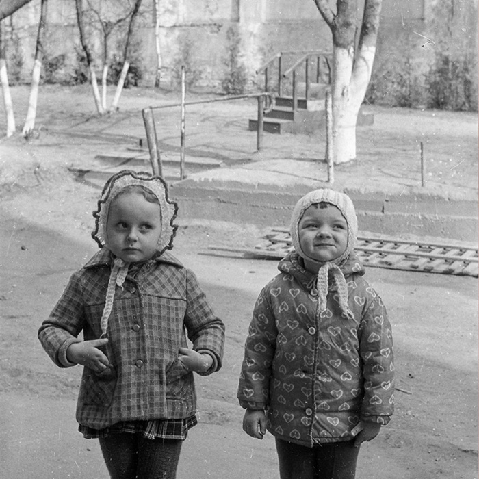 Во дворе. Минск, 1983 год