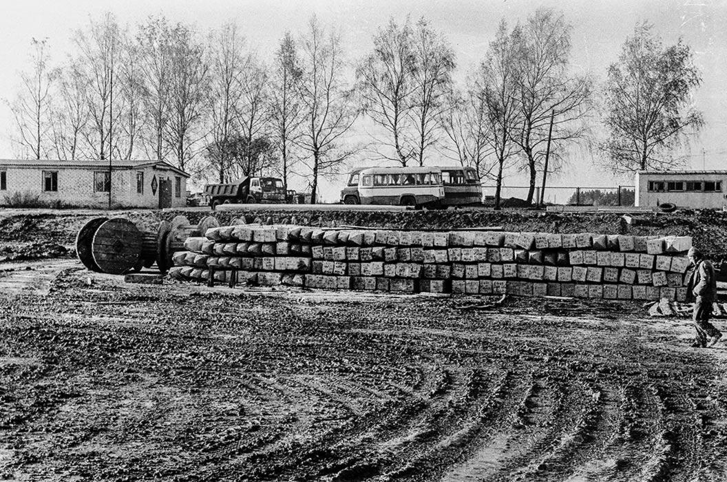 Стройка. Минск, 1980 год
