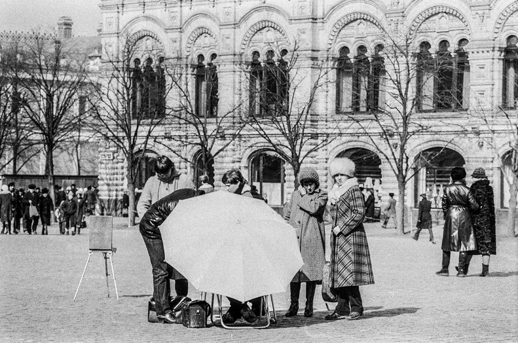 У ГУМа, Красная площадь, Москва, 1982 год