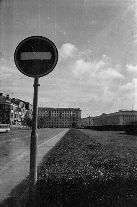 Площадь Ленина (тогда), Минск, 1985 год