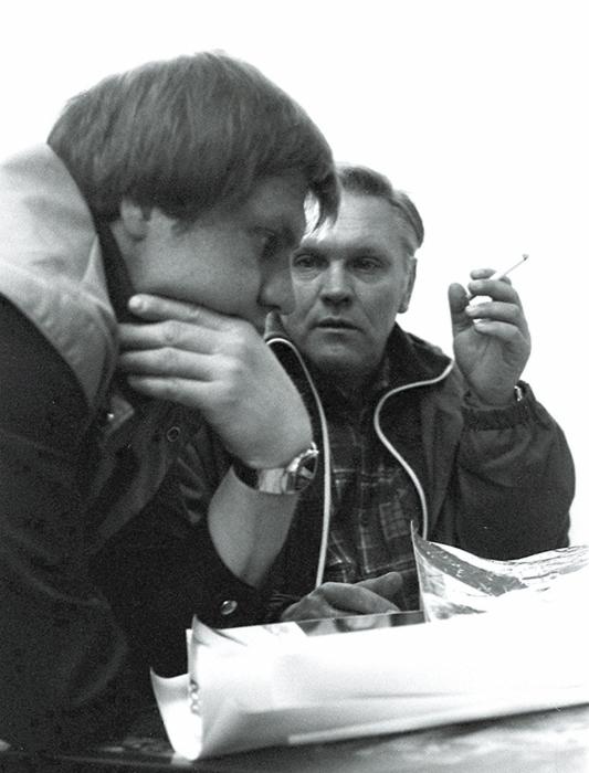 Слева на право А.Шевцов, В.И.Когутенко - председатель клуба. 80-е года. Снимок Л.Левшинова